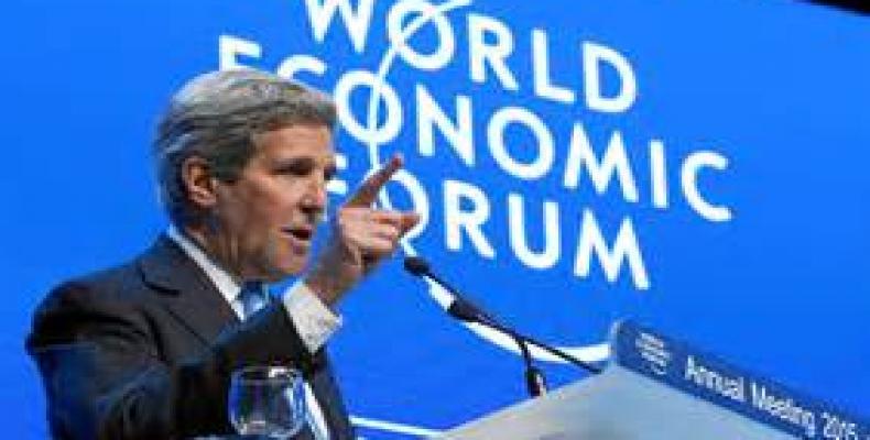 Kerry en Davos