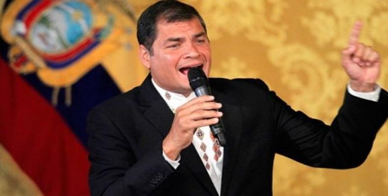 Former Ecuadorean president Rafael Correa.  Photo: AFP