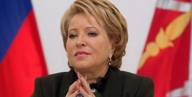 Valentina Matvienko, president of the Council of the Russian Federation