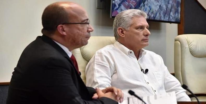 Díaz-Canel en comparecencia especial. Foto: Archivo