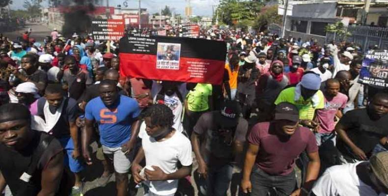 Protestas recientes en Haití