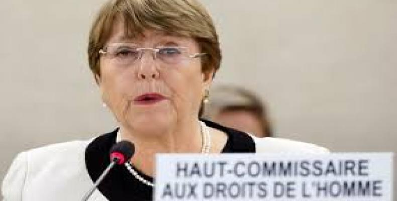 United Nations High Commissioner for Human Rights, Michelle Bachelet.