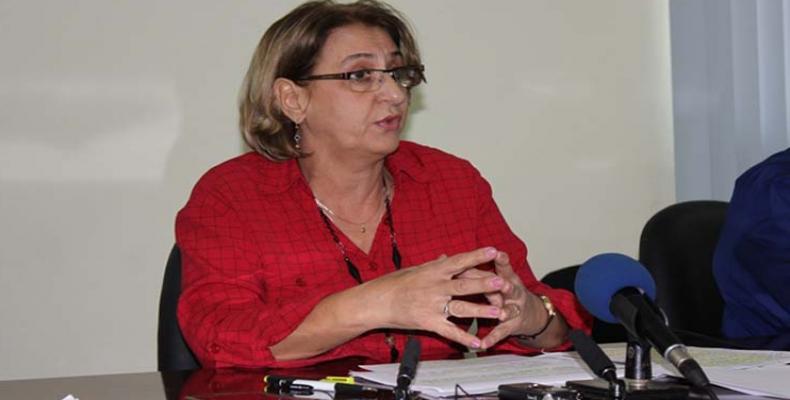 Alina Balseiro, presidenta de la Comisión Electoral Nacional, de Cuba.Foto:ACN.