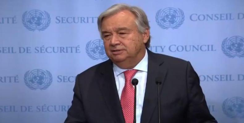 UN Secretary General Antonio Guteres