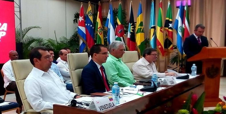 Cuban President Miguel Diaz Canel attended the closing session of the 18th  Political Council. Radio Rebelde Photo