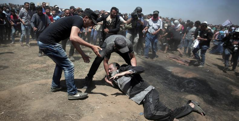 Palestinians protest U.S. embassy in Jerusalem.  Photo: Reuters