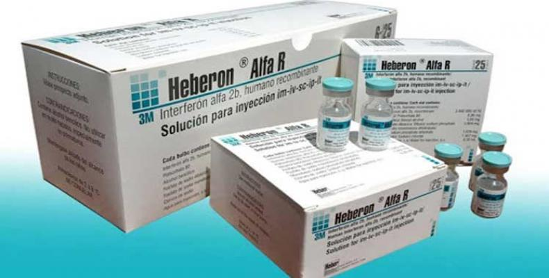 Cuba emplea con buenos resultados el Interferón Alfa 2b Humano Recombinante en pacientes de la Covid-19. Foto: PL.