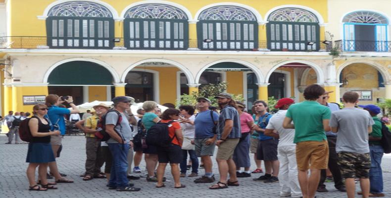 International tourists in Old Havana