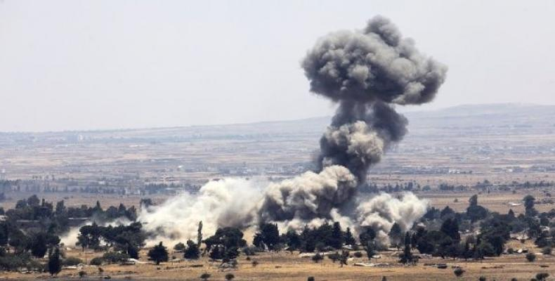 Israeli planes hit targets in Syria.  Photo: Reuters
