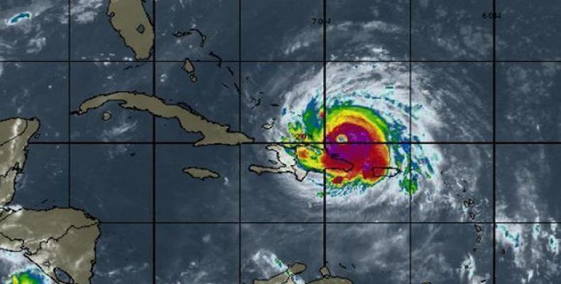 El huracán Irma, de categoría 4, sobre el océano Atlántico, septiembre de 2017 /NOAA.