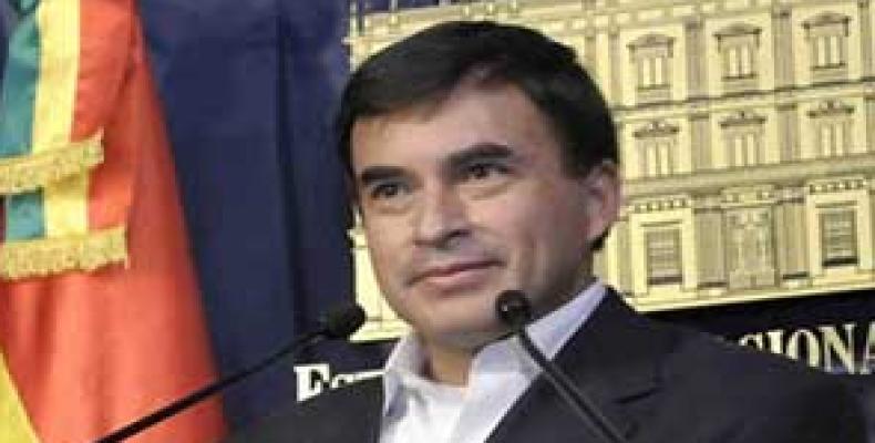 Embajador Juan Ramón Quintana cuestionó el concepto de gobernabilidad presentado en Lima. Foto: Archivo