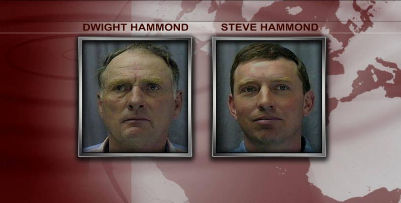 Donald Trump pardons Oregon ranchers, the Hammond brothers, convicted of arson on federal lands.  Photo: Democracy Now