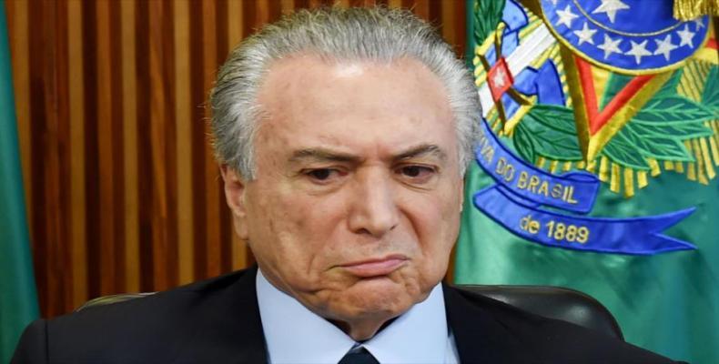 Le président provisoire du Brésil, Michel Temer.
