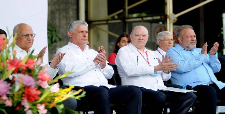 Díaz-Canel (segundo de izquierda a derecha) en la inauguración de Fihav 2018. Fotos: Omara García Mederos y Alejandro Rodríguez Leiva