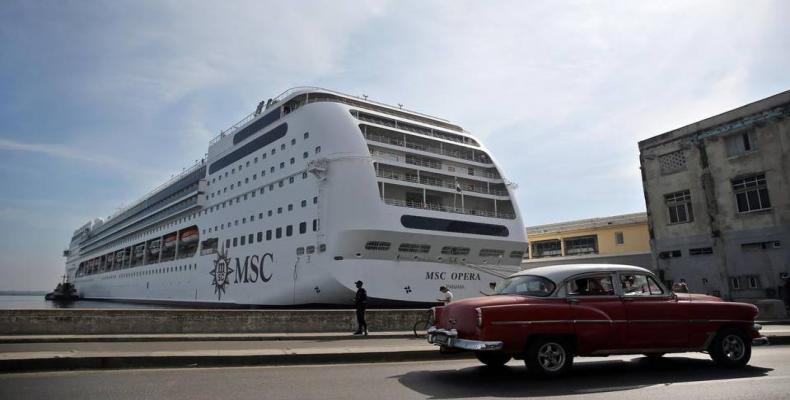 MSC Opera at Havana's cruise-ship terminal. File photo