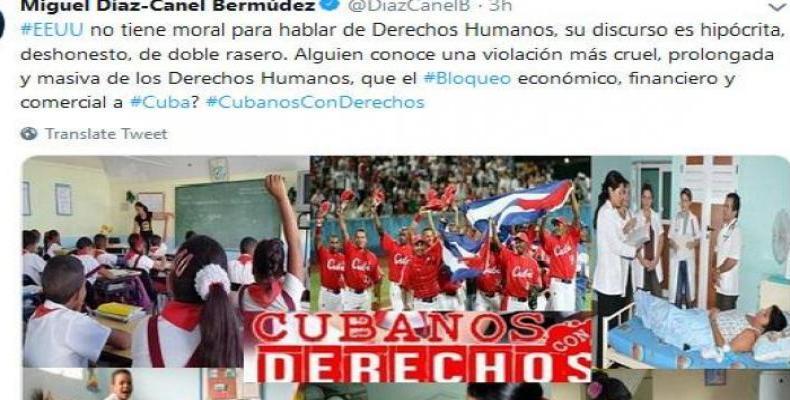 President Díaz-Canel responds to Washington's new anti-Cuba allegations