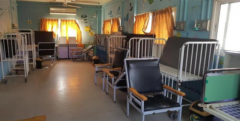 Empty beds are seen in the Gaza strip's Beit Hanoun Hospital, as it suspended it services due to the lack of fuel (Photo: Beit Hanoun Hospital)