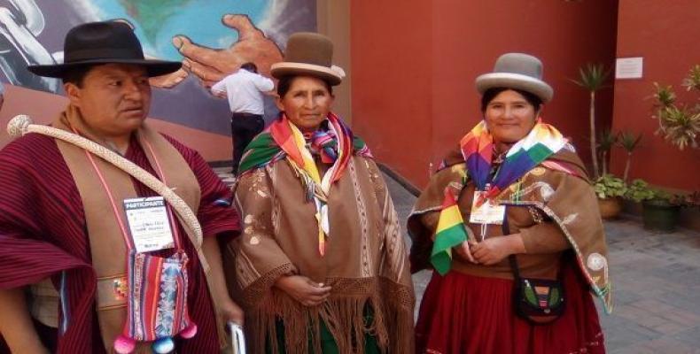 Unas 150 organizaciones de Perú y del resto de América Latina participan en la Cumbre de los Pueblos.Foto:Marina Menéndez.