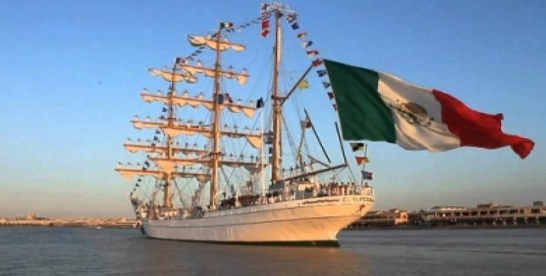 Durante la estadía del buque escuela en la capital cubana, los marinos mexicanos cumplirán un programa de actividades.Foto:Archivo.