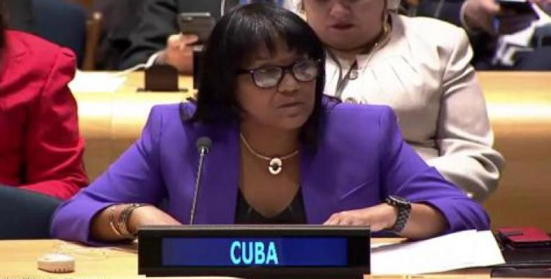 Cuban UN Ambassador Anayansi Rodríguez