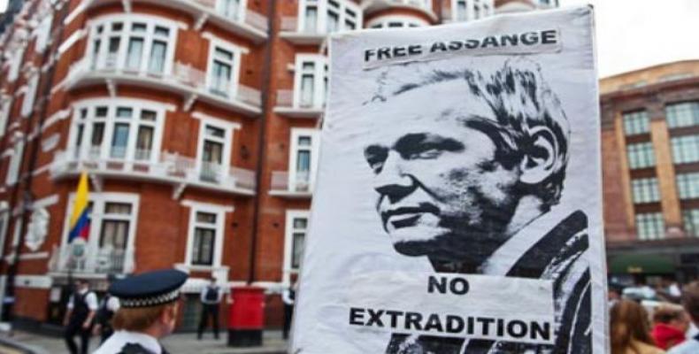 Julian Assange still in Ecuador's London embassy.  Photo: teleSUR