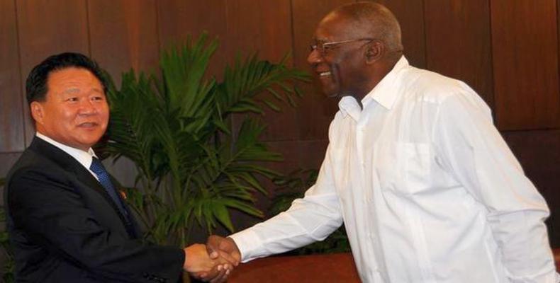 Cuban Vice President Salvador Valdés Mesa receives North Korean senior official. Photo: ACN