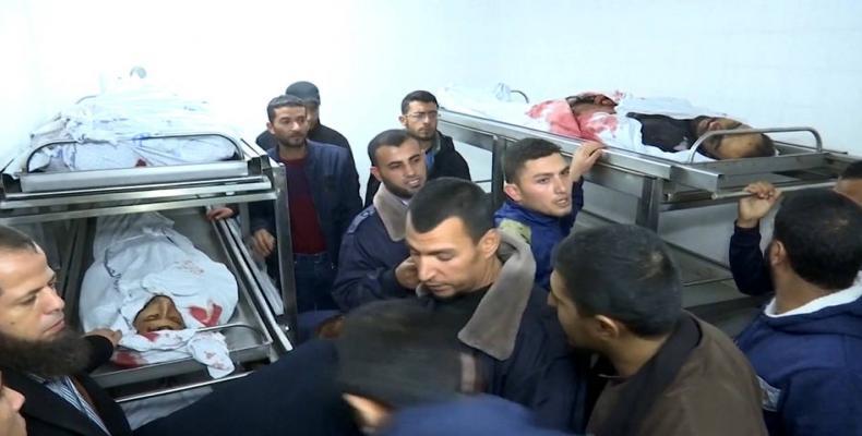 Israeli raid kills seven Palestinians in Gaza.  Photo: Press TV