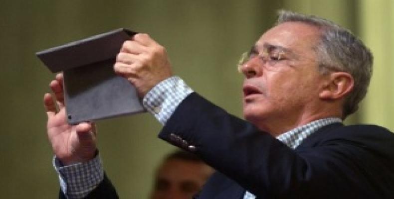 Former Colombian President Alvaro Uribe