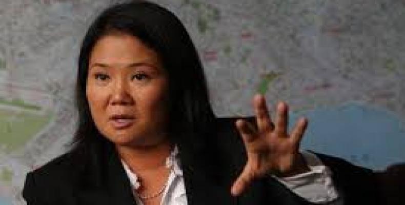 Candidata presidencial Keiko Fujimori,