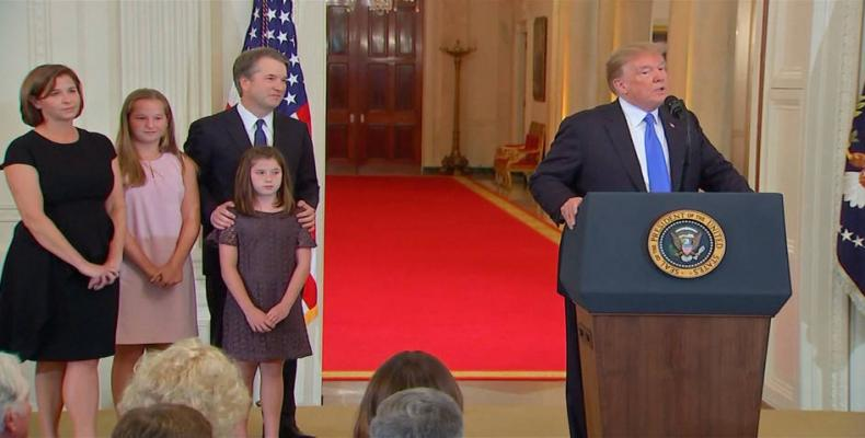 White House touts Judge Kavanaugh's business-friendly rulings.   Photo: White House file
