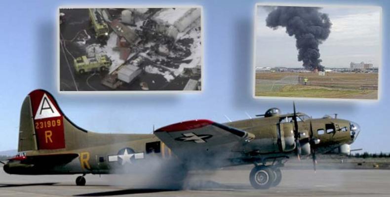 La aeronave se estrelló mientras intentaba aterrizar. Foto: PL
