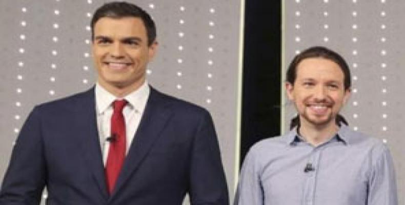 Sánchez e Iglesias, líderes del Psoe y Podemos