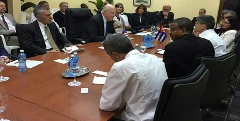 Visiting U.S. congressional delegation meets with Cuban Foreign Ministry officials Photo: PL