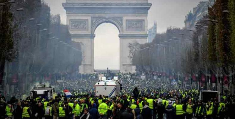 Yellow Vests protesters hold 11th week of demonstrations.  Photo: EFE
