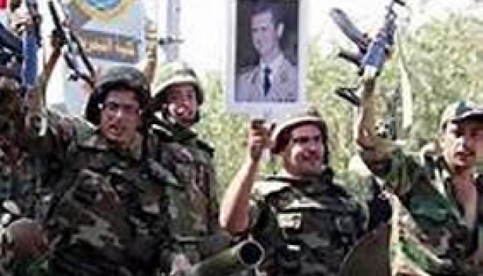 Soldados sirios celebran victoria