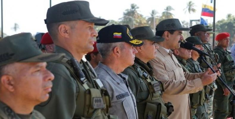 Armed Forces of Venezuela reaffirms support for President Nicolas Maduro.  Photo: teleSUR