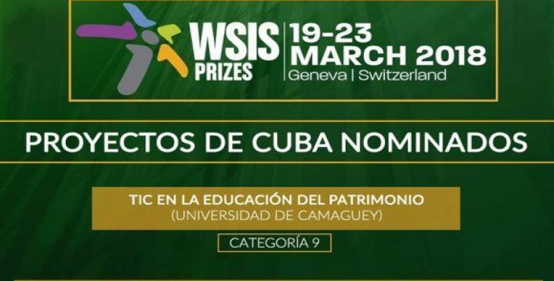 Proyectos cubanos nominados a la 7ma Edición de los Premios de la Cumbre Mundial de la Sociedad de la Información.Imágen:Archivo