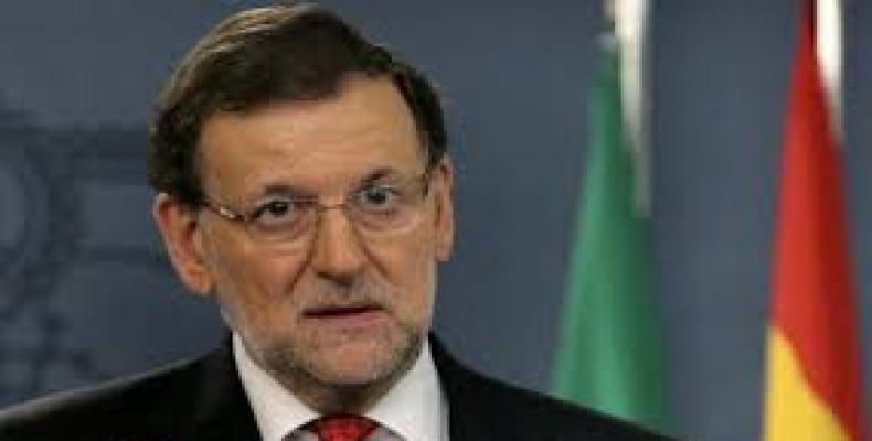 Presidente en funciones del Gobierno español, Mariano Rajoy,