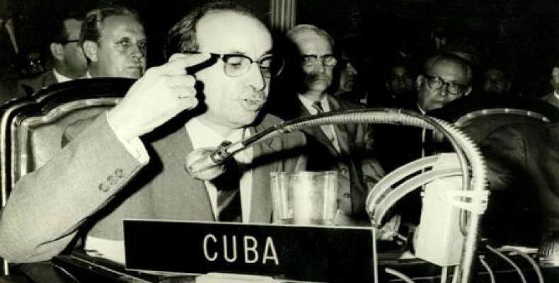 Raul Roa Gacia, first foreign minister of the Cuban Revolution