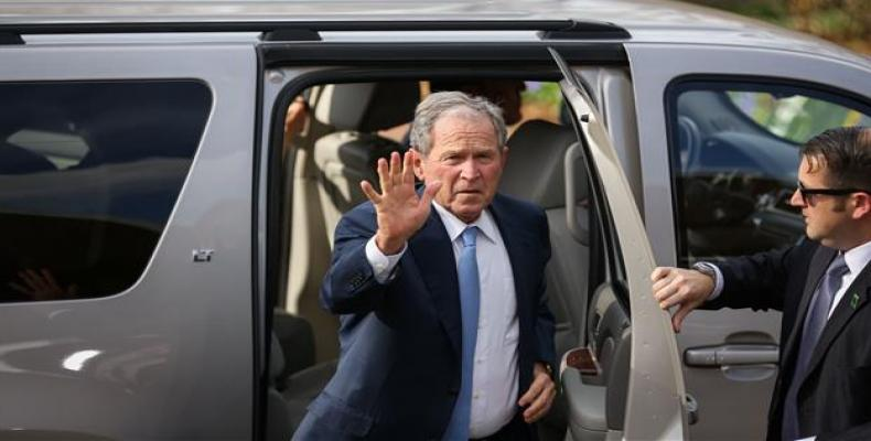 Former US President George W. Bush arrives at The Billy Graham Library on February 26, 2018, in Charlotte, North Carolina.  Photo: AFP