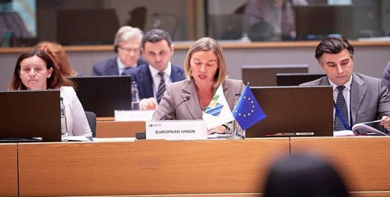 Federica Mogherini destacó coincidencias entre las dos organizaciones. Foto: PL