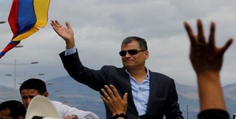Former President of Ecuador Rafael Correa