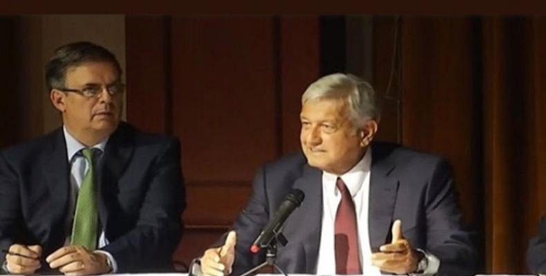 Ebrard y López Obrador