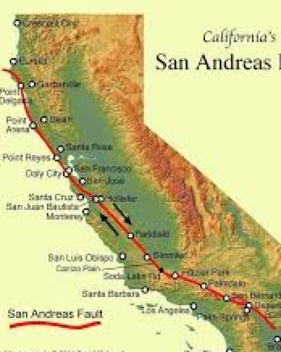 La Falla de San Andrés, la más larga y  peligrosa en California