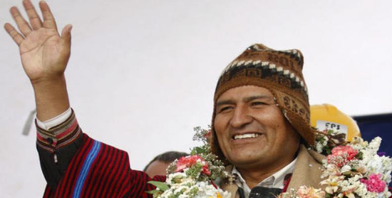 Presidente Evo Morales.  Foto de Archivo