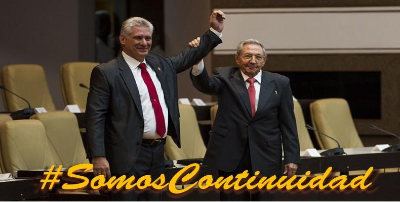 Raúl Castro kaj Miguel Díaz-Canel