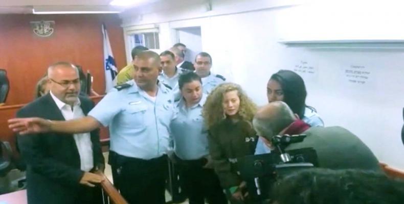 Israeli authorities arrest family of young teenage activist. Photo: AP  Israeli authorities arrest family of young teenage activist.  Photo: AP