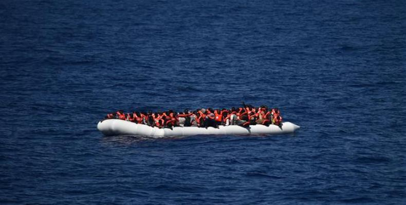 The photo, taken on July 4, 2018, shows a ship run by a Spanish NGO and carrying 60 refugees rescued on the Mediterranean arriving at Barcelona's harbor after I