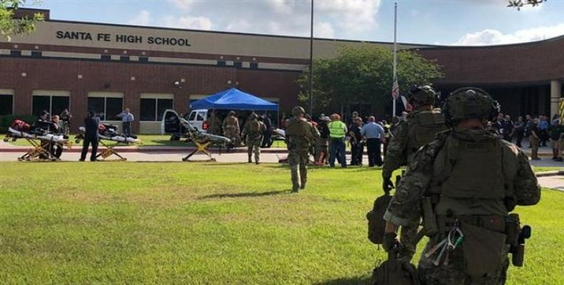 At least 10 people have been reported dead in a shooting at a Texas high school.  Photo: AP