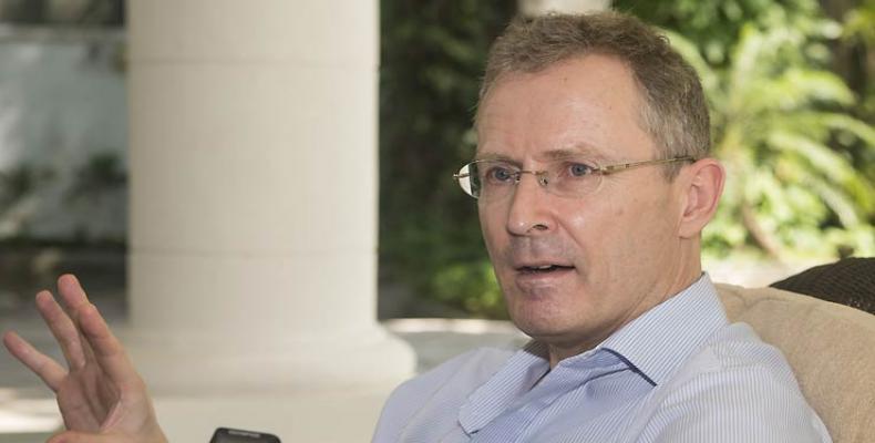 L'ambassadeur du Royaume-Uni à Cuba. Photo Prensa Latina